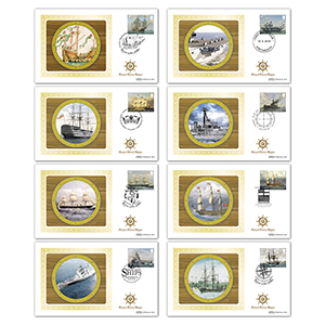 2019 Royal Navy Ships Stamps BS Set