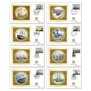 2019 Royal Navy Ships Stamps BS Set