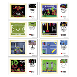 2020 Video Games Stamps BS Set