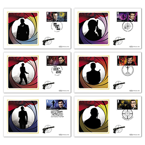 2020 James Bond Stamps BS Set