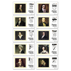 2020 Romantic Poets Stamps BS Set