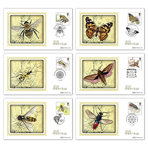 2020 Brilliant Bugs Stamps BS Set