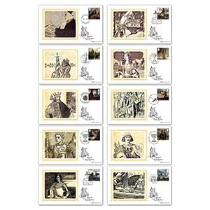 2021 Legend of King Arthur Stamps BS Set