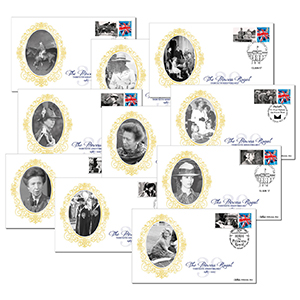 2017 Princess Royal Commemorative Sheet - Benham BSSP Set of Covers