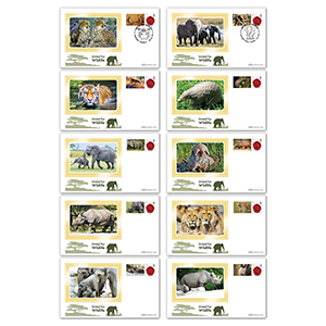 2018 United for Wildlife Commemorative Sheet BSSP Set of Covers