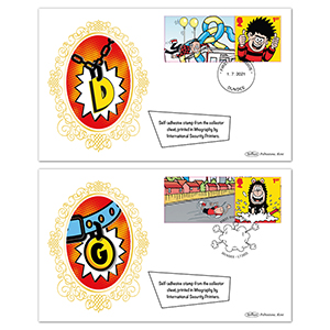 2021 Dennis and Gnasher Collector Sheet BSSP Set
