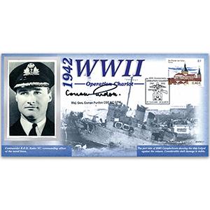 1942 Operation Chariot - Signed Maj. Gen. Purdon CBE - 60th Anniversary of WWII