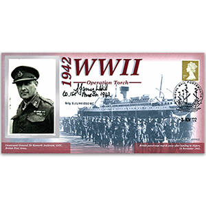 1942 Operation Torch - Signed by Hill - 60th Anniversary WWII