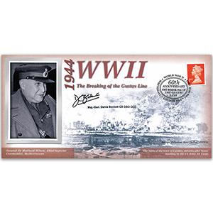 1944 Breaking of the Gustav Line - Signed Maj-Gen Denis Beckett