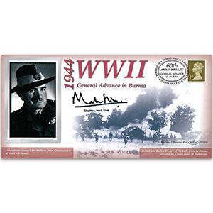 1944 General Advance on Mandaley/Burma - Signed Hon Mark Slim