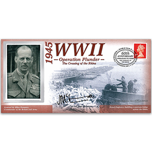 1945 Operation Plunder - Signed Lt. Col. McLennan - 60th Anniversary WWII