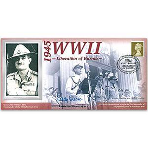 1945 Liberation of Burma - Signed Capt P.M.C. Vincent
