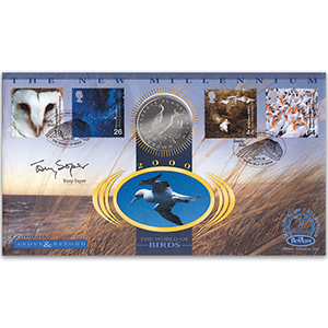 2000 Above & Beyond Coin Cover - Signed by Tony Soper