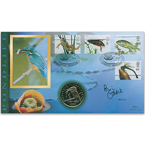 2001 Pondlife Coin Cover - Signed by Bill Oddie OBE