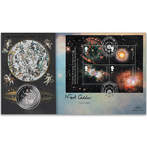 2002 Astronomy M/S Coin Cover - Signed by Nigel Calder