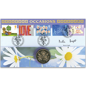 2002 Occasions Coin Cover - Signed by Nicola Paget