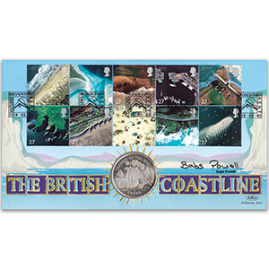 2002 Coastlines Coin Cover - Signed by Babs Powell