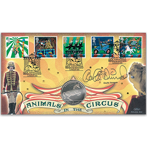 2002 Europa: Circus Coin Cover - Signed by Charlie Dimmock