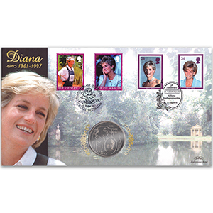 2002 Princess Diana 5th Anniversary Coin Cover