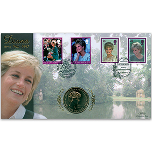 2002 Diana 5th Anniversary in Memorium Coin Cover - Doubled