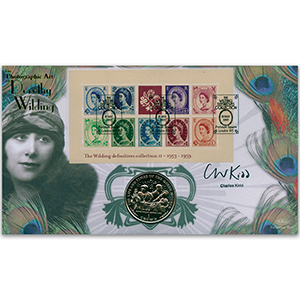 2003 Wilding Definitives M/S Coin Cover - Signed by Charles Kidd
