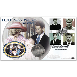 2003 Prince William's 21st Coin Cover - Signed by David Cornell
