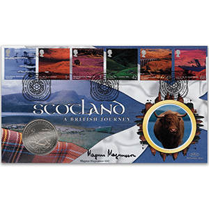 2003 Scotland Coin Cover - Signed by Magnus Magnusson KBE
