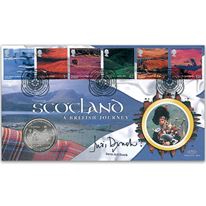 2003 British Journey: Scotland Coin Cover - Signed by Dame Judi Dench