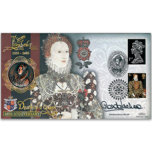 2003 Elizabeth I 400th Special Coin Cover - Signed by Glenda Jackson CBE