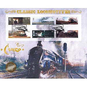 2004 Classic Locomotives Stamps Coin Cover