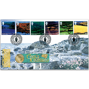 2004 British Journey: Northern Ireland Coin Cover - Signed by Barry McGuigan