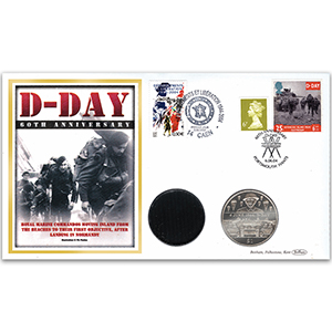 2004 D-Day 60th Anniversary - Containing Crown & Sand - Doubled