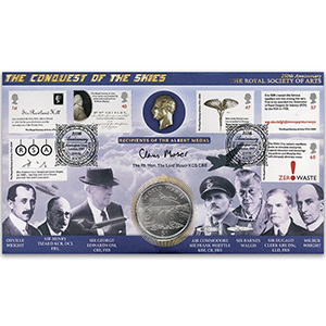 2004 Royal Society of the Arts 250th Coin Cover - Signed by Lord Moser