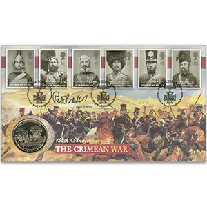 2004 Crimean War Coin Cover - Signed by Peter Bowles