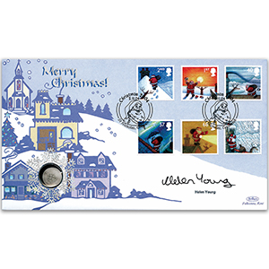 2004 Christmas Coin Cover - Signed by Helen Young