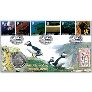 2005 British Journey: South-West England Coin Cover - 'Preserve the Planet' Coin