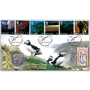 2005 British Journey: South-West England Coin Cover
