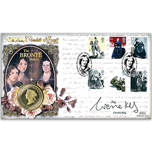 2005 Charlotte Brontë 150th Stamps Coin Cover - Signed by Lorraine Kelly