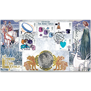 2005 Magic Circle 100th Stamps Coin Cover - Signed by Cherie Lunghi