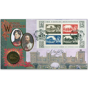 2005 Castles High Value 50th Coin Cover - Signed by Marc Morris