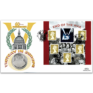 2005 End of the War Coin Cover - Victory in Europe