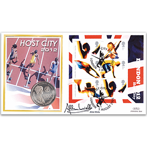 2005 London 2012 Coin Cover - Signed Allan Wells