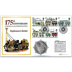 2005 Liverpool & Manchester Railway 175th Anniversary Coin Cover