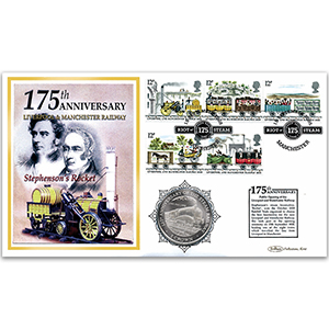 2005 Liverpool & Manchester Railway 175th Anniversary Coin Cover - Mallard Locomotive