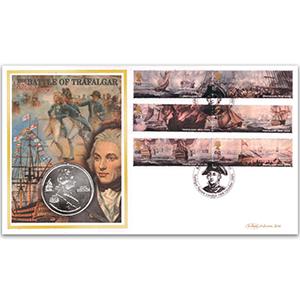 2005 Trafalgar 200th Coin Cover - Trafalgar Square