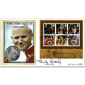 2005 Christmas Coin Cover - Signed by Dr. Sheila Cassidy