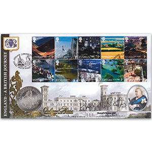 2006 British Journey: England - Osbourne House Coin Cover - Signed by Prunella Scales