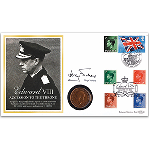 2006 Edward VIII 70th Anniversary of Accession Coin Cover - Signed by Hugo Vickers