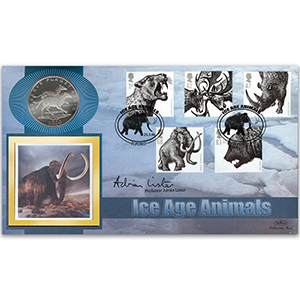 2006 Ice Age Animals Coin Cover - Signed Prof. Lister