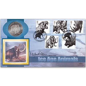 2006 Ice Age Animals Coin Cover - Signed by Michael Dixon